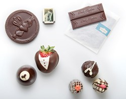 MARK MCKENNA - Clockwise from top left: Drakes Glen; Dick Taylor Craft Chocolate; Humboldt Chocolates; Old Town Coffee and Chocolates. Styling by Holly Harvey
