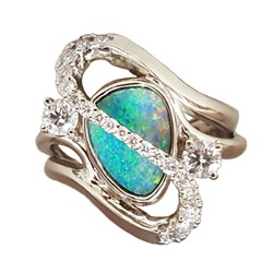Ring by Abraxas Jewelers.