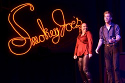 PHOTO BY KRISTI PATTERSON, SUBMITTED - Elizabeth Whittemore and Jordan Dobbins in Ferndale Repertory Theatre's Smokey Joe's Café.