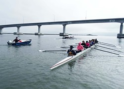 Learning to row near the Samoa Bridge - Uploaded by Lorraine Dillon1