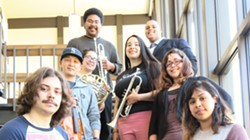 Some of this year's HSU Department of Music graduating seniors:         front row:  Jacqueline Hernandez, Adam Erickson, Alyssa Ortega         middle row:  Dominique Hausler, Samuel Brown, Michael Hall         Back row:  Andrew Henderson, Rene Chavez - Uploaded by fredbaby