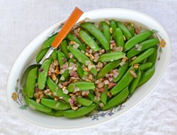 PHOTO BY SIMONA CARINI - Sugar snap peas are the sweet taste of spring.