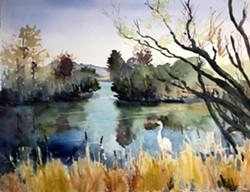 Marsh reflections by Paul Rickard.