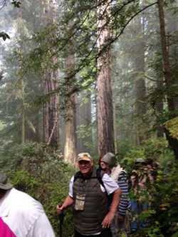 Hikers on salmon pass loop trail - Uploaded by BLM