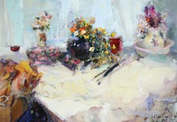 "Alicia Treadway's ""Still Life with Flowers"" at Piante."