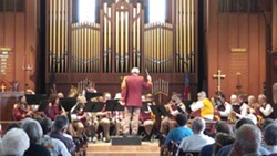 CRYSTAL PORTER - Dr. Kenneth Ayoob conducting the Scotia Band in Christ Episcopal Church in 2018.