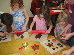 Children make applesauce ornaments at the annual Children's Holiday Gift Making Workshop. - Uploaded by leaflady
