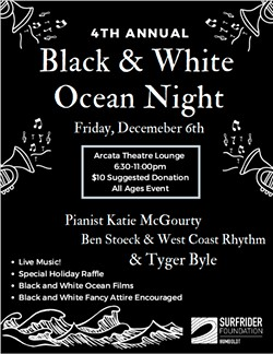 B&W Ocean Night Flier - Uploaded by Humboldt Surfrider