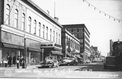 HUMBOLDT COUNTY HISTORICAL SOCIETY - Daly's Department Store at the corner of F and 5 th taken in the 1940s