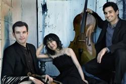 left to right: Jesse Mills, violin; Rieko Aizawa, piano; Raman Ramakrishnan, cello - Photo credit: Lisa-Marie Mazzucco