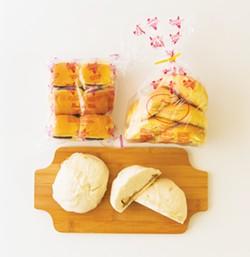 PHOTO BY ZACH LATHOURIS - Ube, coconut and chicken buns arrive on Thursdays.