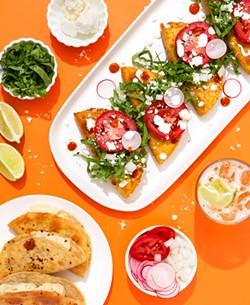 COURTESY OF ESTEBAN CASTILLO. - Chicano Eats author Esteban Castillo's tacos de papa inspired by his grandmother's cooking.