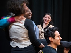 A regenerative theatre exercise at ADC 2020 with Caroline Griffith, Cynthia Martells, Leslie Castellano and Oscar Molgollon - Uploaded by RuthiEng