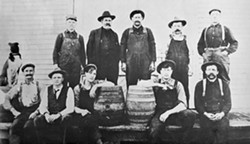 HUMBOLDT COUNTY HISTORICAL SOCIETY - Broadway & Harris Humboldt Brewing Company Staff 1909