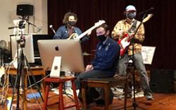 Julio Torres, Sean Pitney, and Jody Goldman performing on the Radio Hour - Uploaded by Katy Warner