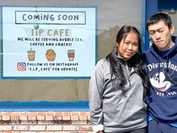 SUBMITTED - Sarah Ith Phe and Henry Phe in front of their planned S.I.P. Cafe.