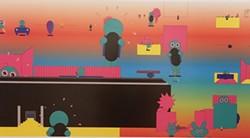 "COURTESY OF THE ARTIST - Detail from John Pound's ""Black Decks,"" 2012."