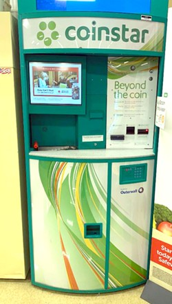 """PHOTO BY BARRY EVANS - Got Bitcoin? This """"Bitcoin ATM,"""" in Safeway on Harris Street in Eureka, is one of more than 4,400 Coinstar-Coinme machines in 33 states."""