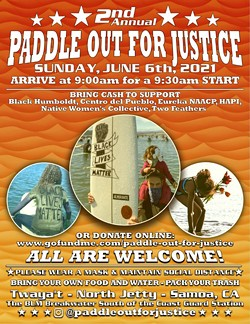 Paddle Out for Justice Flyer - Uploaded by Paddle Out for Justice