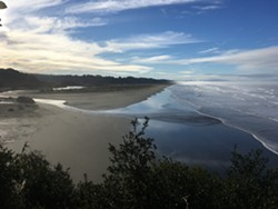 Interesting rock formations on Trinidad State Beach.
