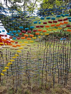 PHOTO BY GABRIELLE GOPINATH - Installation by Rachel Griffith and Caroline Griffith of House of Nice.