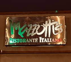COURTESY OF JOE MAZZOTTI - The sign at Mazzotti's on the Plaza lit up again in anticipation of its renovation and reopening.