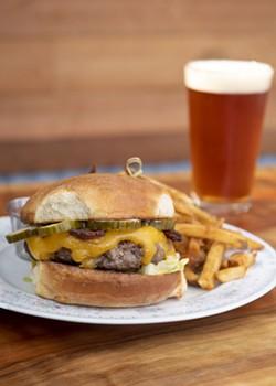 MARK MCKENNA - A Classic burger with bacon.