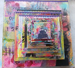 """Baroque Grunge,"" Kati Barrett, mixed media at Good Relations. Courtesy of the artist"