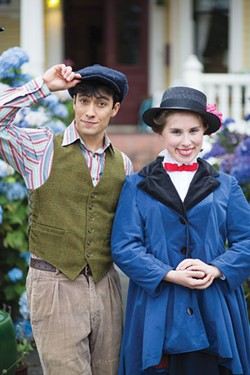 PHOTO BY DERREN RAZER - Fiona Ryder and James Gadd in Mary Poppins.