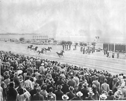 COURTESY OF THE FERNDALE MUSEUM - Horse Racing at the Humboldt County Fair in 1946.