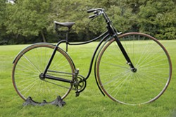 (USED WITH PERMISSION) - Tim Dawson's restored 1887 Rover Safety Bicycle, details at http://vintagebicycle.wordpress.com