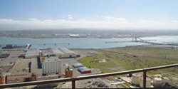 PHOTO BY GRANT SCOTT-GOFORTH - Looking southwest from the former Samoa pulp mill.