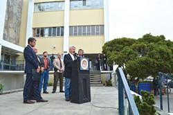 Supervisor Mark Lovelace calls for Gov. Jerry Brown to sign medical marijuana regulations.