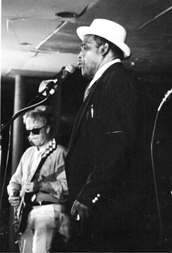 SUBMITTED. - Buddy Reed (left) plays with Willie Dixon. Check Reed out with his local band, the Rip It Ups, Saturday Nov. 21 or Tuesday, Nov. 24.