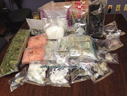 COURTESY OF THE HUMBOLDT COUNTY SHERIFF'S OFFICE - When Humboldt County Drug Task Force agents served coordinated search warrants on Nov. 3, they reported seizing a total of more than 11 pounds of methamphetamine and black tar heroin, as well as more than $37,000 in cash.