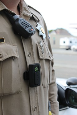 FILE PHOTO - Humboldt County sheriff with a body camera.