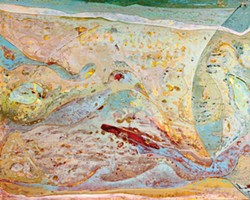 SUBMITTED. - Detail from a painting at Redwood Art Association's exhibit at the California Redwood Coast Airport.