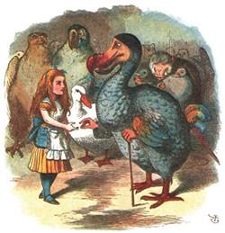 Alice and the dodo bird by Sir John Tenniel.