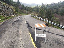 PHOTO BY KATE TROWER - A slip on Wilder Ridge Road.
