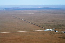 The Laser Interferometer Gravitational-Wave Observatory, or LIGO, at Hanford, Washington. LIGO/National Science Foundation