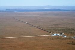 The Laser Interferometer Gravitational-Wave Observatory, or LIGO, at Hanford, Washington. LIGO/National Science Foundation