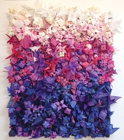 "Victor Feyling's ""Seven Days in the Sun,"" a saturated ombré of origami."