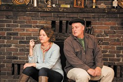 PHOTO COURTESY OF REDWOOD CURTAIN THEATRE - Pamela Long and Craig Benson as neighbors in rural Ireland.