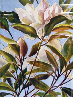 "PHOTO COURTESY OF THE ARTIST - Joyce Jonte, ""Star Magnolia,"" California Redwood Coast Airport."