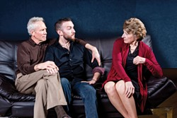 COURTESY OF REDWOOD CURTAIN THEATRE - Gary Sommers, Sam Greenspan and Bernadette Cheyne share an awkward family moment.