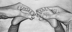"""COURTESY OF THE ARTIST - Camilla Montoya's drawing is part of the """"Love and Loss"""" show at Wildberries Marketplace."""