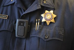 FILE PHOTO - Police body camera.