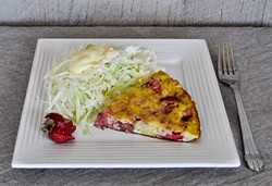PHOTO BY SIMONA CARINI - Raise eyebrows with strawberry frittata.