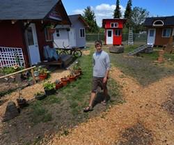 Andrew Heben in Opportunity Village, Eugene, Oregon. (JPG)