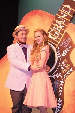 COURTESY OF HLOC - Craig Waldvogel and Rachel Post as backstage romantics